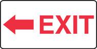 Exit (Arrow Left) - Dura-Fiberglass - 7'' X 14''
