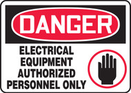 Danger - Electrical Equipment Authorized Personnel Only Sign 2