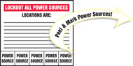 Lockout All Power Sources Locations Are: