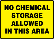 No Chemical Storage Allowed In This Area
