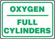 Oxygen Full Cylinders - Adhesive Dura-Vinyl - 10'' X 14''