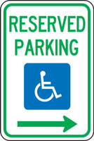 Handicap Reserved Parking Sign 1