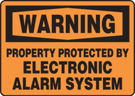 Warning - Property Protected By Electronic Alarm System