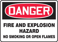 Danger - Danger Fire And Explosion Hazard No Smoking Or Open Flames