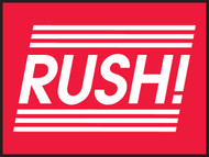 Rush! Shipping Label