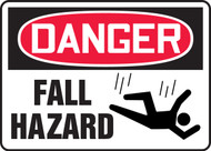 "Danger Fall Hazard - 10"" x 14"" - Safety Sign"