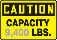 Caution - Capacity ___ Lbs. 1