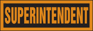Superintendent Hard Hat Decal