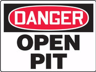 MCSP089 Danger Open Pit Sign