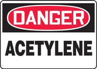 Danger - Acetylene - Adhesive Vinyl - 10'' X 14''
