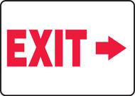 (Arrow Right) Exit - Adhesive Vinyl - 7'' X 10''