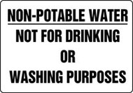 Non-Potable Water Not For Drinking Or Washing Purposes