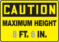 Caution - Maximum Height ___ Ft. ___ In.