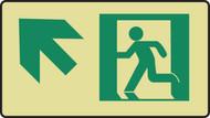 Graphic With Arrow Diagonal Up Arrow- Glow Sign