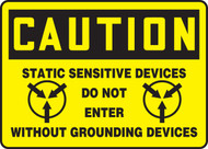 Caution - Static Sensitive Devices Do Not Enter Without Grounding Devices