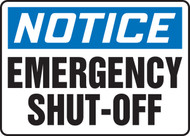Notice - Emergency Shut-Off