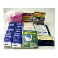 Sanitation Kit for Portable Toilet Kit- 55 piece kit ( 4 kits per order)