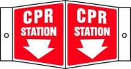 Cpr Station Sign (arrow)- 3d
