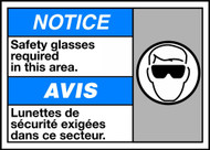 Notice Safety Glasses Required In This Area (W/Graphic)