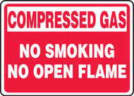 Compressed Gas No Smoking No Open Flame