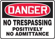 Danger - No Trespassing Positively No Admittance