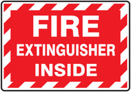 Fire Extinguisher Inside - label 5/pk