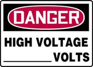 Danger - High Voltage ___ Volts