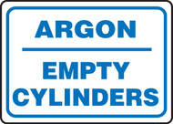 Argon Empty Cylinders - Plastic - 10'' X 14''