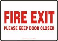 Fire Exit Please Keep Door Closed