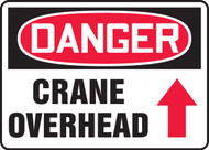 Danger - Crane Overhead Sign Arrow Up