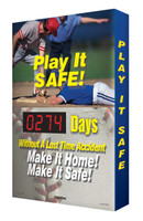 Digi Day 2 Electronic Safety Scoreboards- Play It Safe! SCG114 Accuform