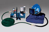Abrasive Helmet Low Pressure System One Worker, 50 foot hose