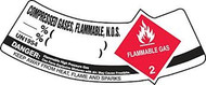 Compressed Gases, Flammable, N.o.s. Flammable Gas Danger