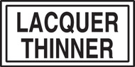 Lacquer Thinner Label