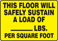 This Floor Will Safely Sustain A Load Of ___ Lbs. Per Square Foot