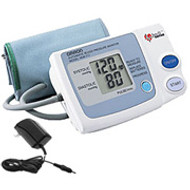 Auto Blood Pressure Monitor with IntelliSense and AC Adapter by Omron