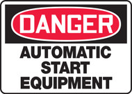 Danger - Automatic Start Equipment