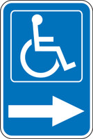 Handicap Parking Sign ----> (w/graphic)