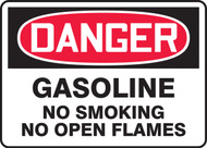 Danger - Gasoline No Smoking No Open Flames