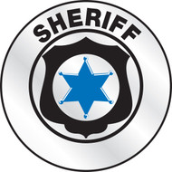 Sheriff Reflective Helmet Sticker