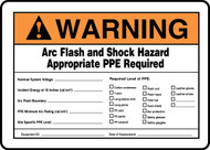Warning Arc Flash And Shock Hazard Appropriate Ppe Required