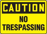 Caution - No Trespassing