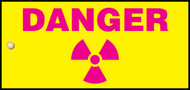 Danger Radiation Slide Sign Header (w/graphic)