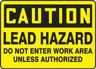 Caution - Lead Hazard Do Not Enter Work Area Unless Authorized 1