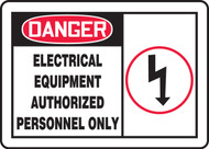 Danger - Electrical Equipment Authorized Personnel Only Sign 3