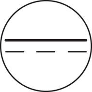 Direct Current  IEC Label