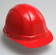 Hard Hat  w/ 6 Point Suspension-Red Hard Hat