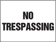 No Trespassing Sign MADM501VA
