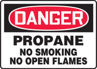 "Danger - Propane No Smoking No Open Flames - 7"" x 11"" - Safety Sign"