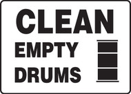 Clean Empty Drums - Safety Sign
